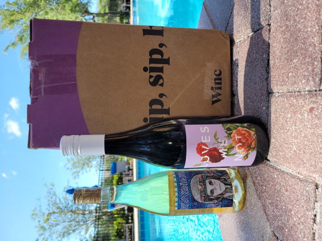 Winc wine box.